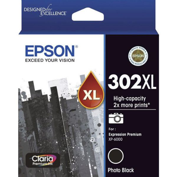 Picture of Epson 302 HY Photo Blk Ink Cartridge
