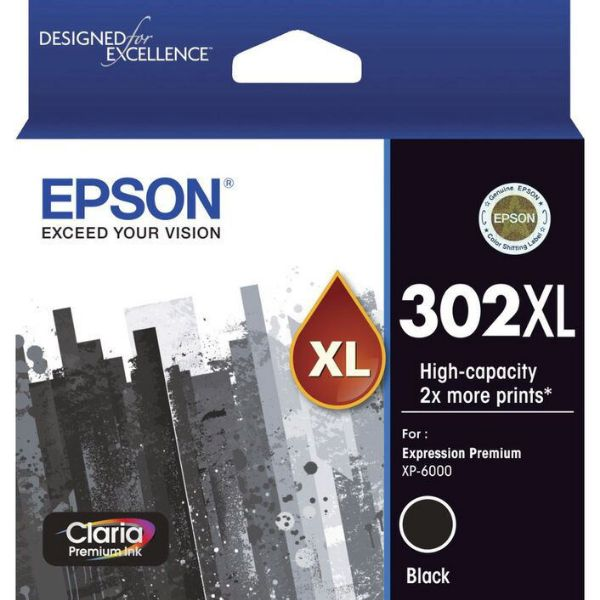 Picture of Epson 302 XL Black Ink Cartridge