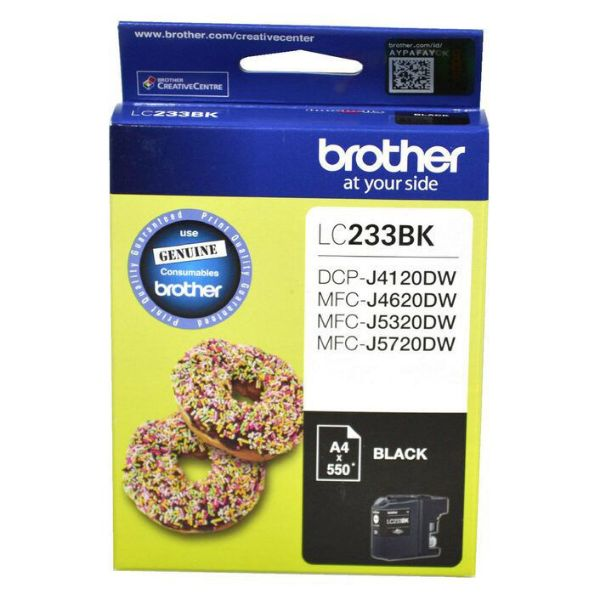 Picture of BROTHER LC - 233 BLACK INK CARTRIDGE