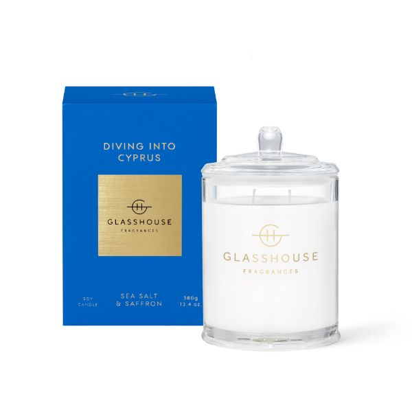 Picture of Glasshouse Fragrance Candle - Diving Into Cyprus 380g