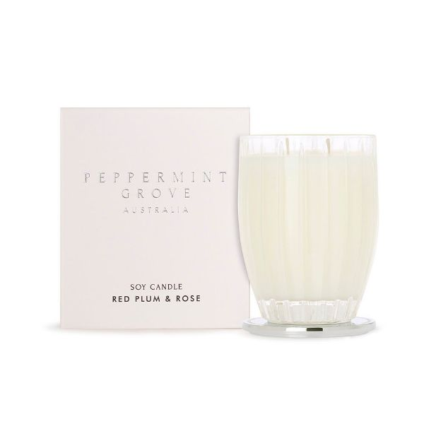 Picture of Peppermint Grove Candle 350g - Red Plum & Rose