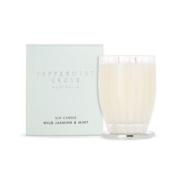 Picture of Peppermint Grove Candle 350g - Wild Jasmine & Mint