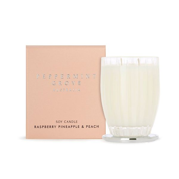 Picture of Peppermint Grove Candle 350g -Rasberry, Pineapple & Peach