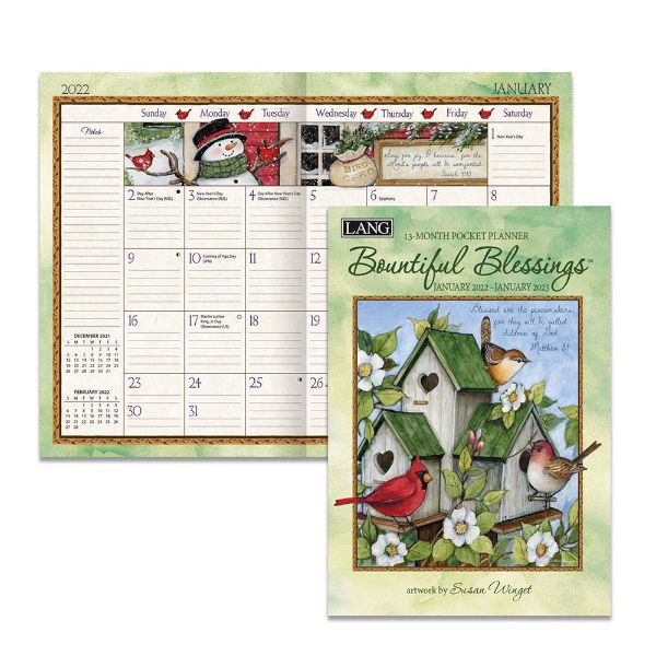 Picture of Lang 13 Month Pocket Planner 2022 Bountiful Blessings By Susan Winget