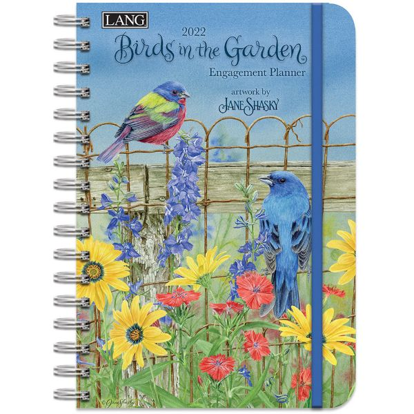 Picture of Lang Spiral Engagement Planner 2022 Birds in The Garden by Jane Shasky