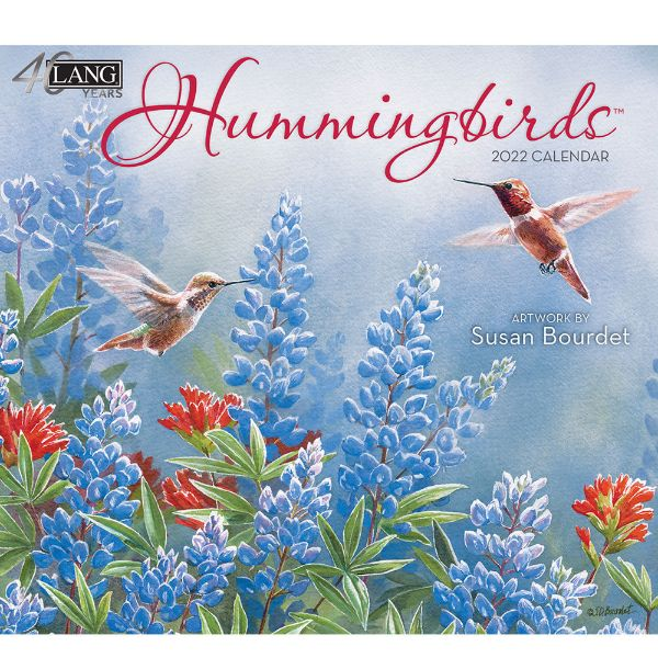 Picture of LANG Wall Calendar 2022 Hummingbirds by Susan Bourdet