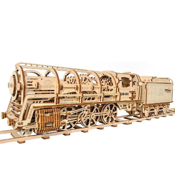 Picture of Ugears Locomotive & Tender & 45cm track