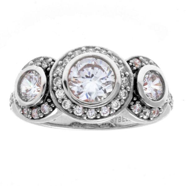 Picture of Sybella jewellery Rhodium cz Stone Dress Ring