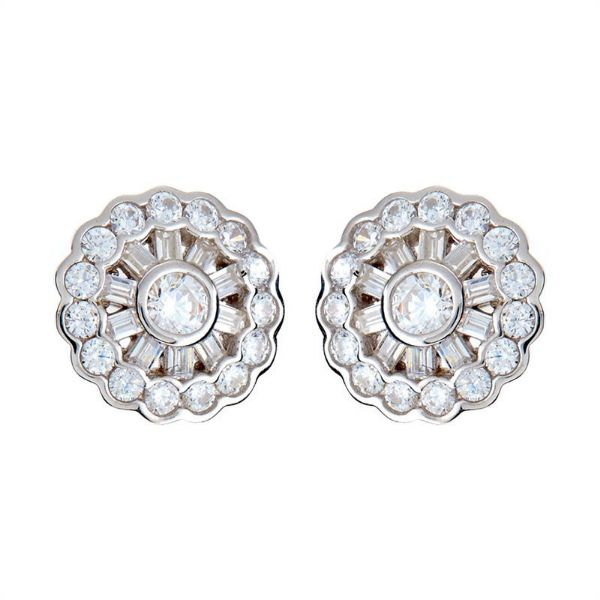 Picture of Sybella Jewellery Daisy Silver Stud Earrings.