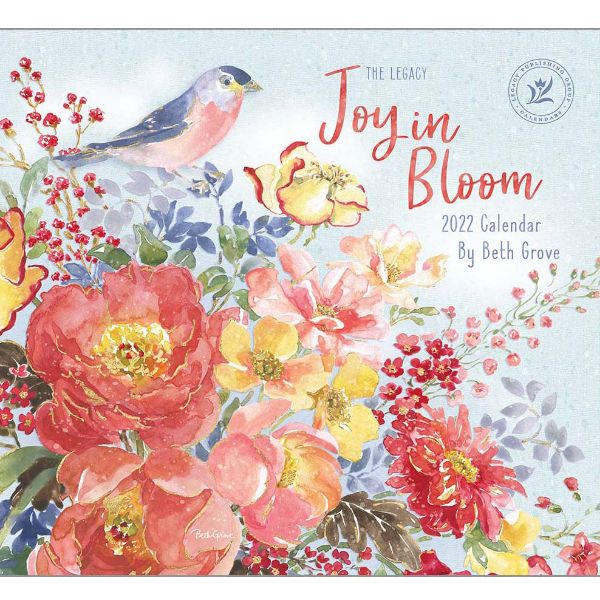 Picture of LEGACY Wall Calendar 2022 Joy in Bloom by Beth Grove