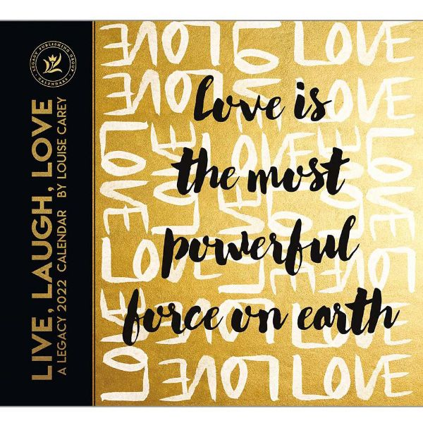 Picture of LEGACY Wall Calendar 2022 Live Laugh Love by Louise Carey