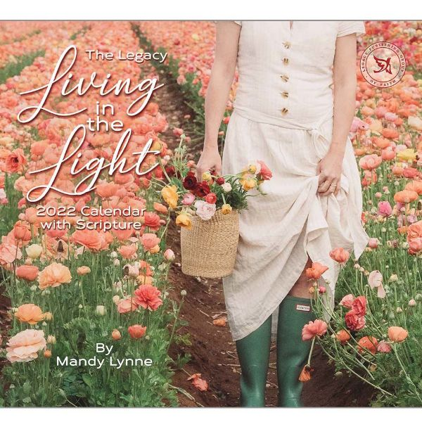 Picture of LEGACY Wall Calendar 2022 Living in the Light by Mandy Lynne